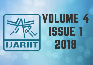 Ijariit Volume 4 Issue 1