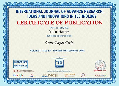 IJARIIT Sample Certificate