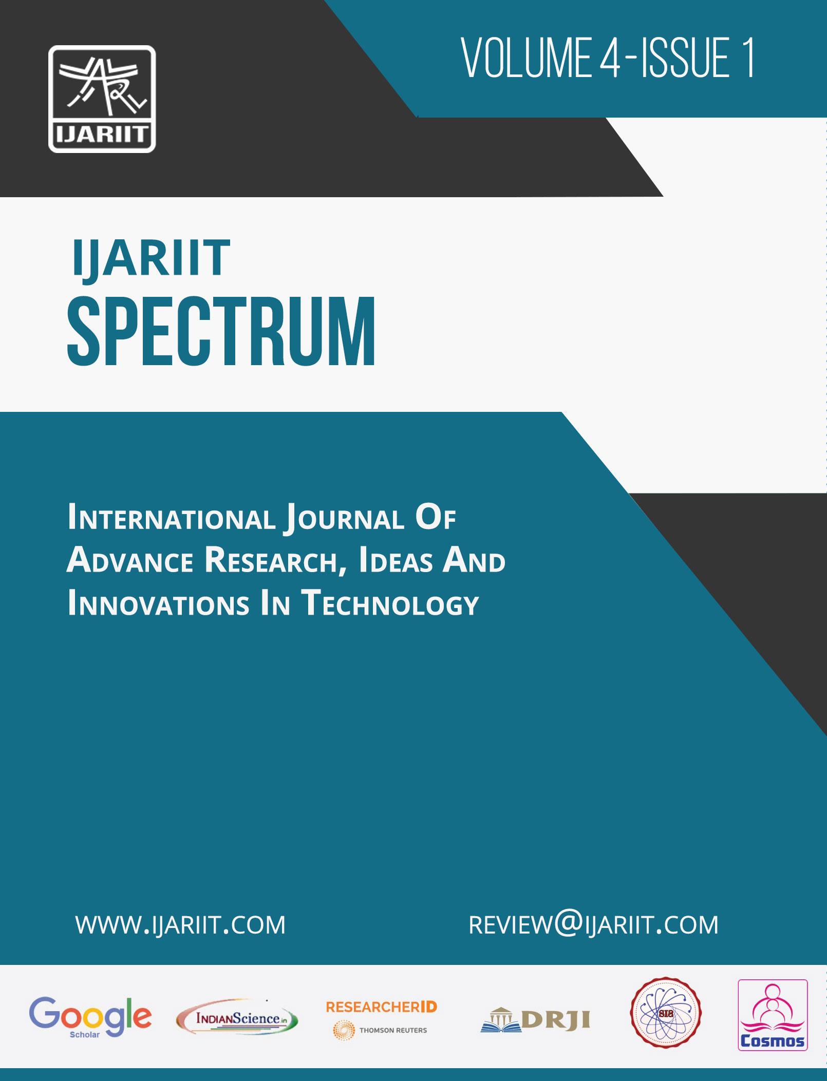 Edition: Volume-4, Issue-1 - IJARIIT